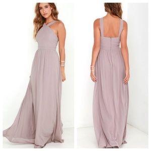 Lulus Air of Romance Purple Maxi Halter Dress